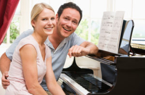 Piano lesson for adult